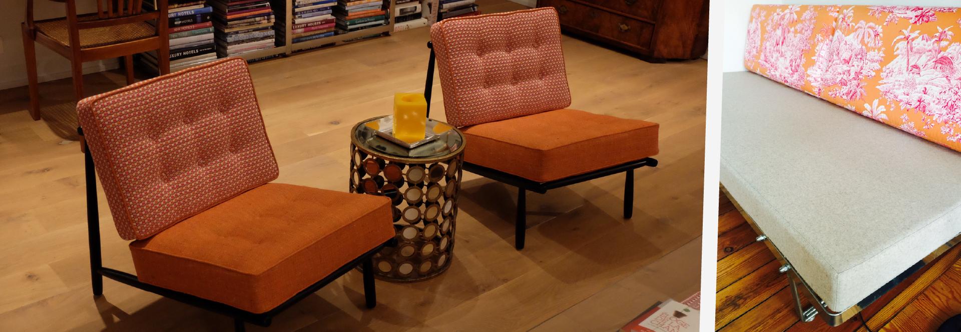 Garnissage mobilier contemporain