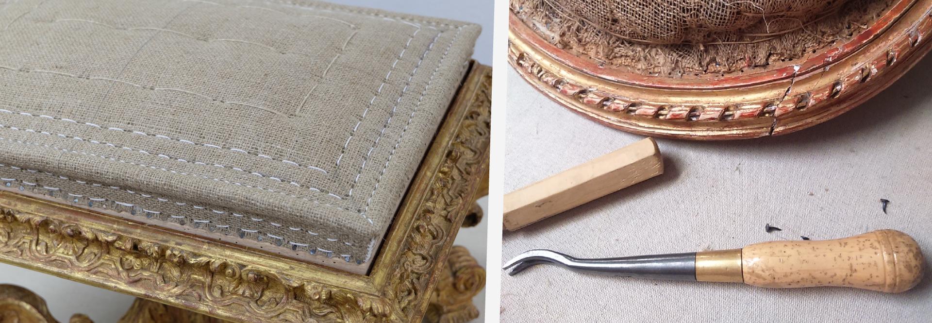 Garnissage et rénovation de mobilier