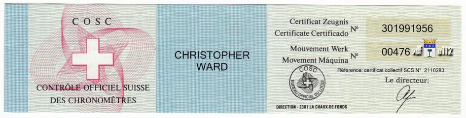 ward - Christopher Ward C60 Trident GMT  - Page 2 Certificat-COSC-C60-Trident-VdF-FAM-2
